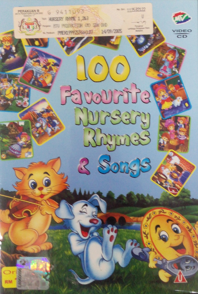 100 English Favourite Nursery Rhymes Songs Dvd