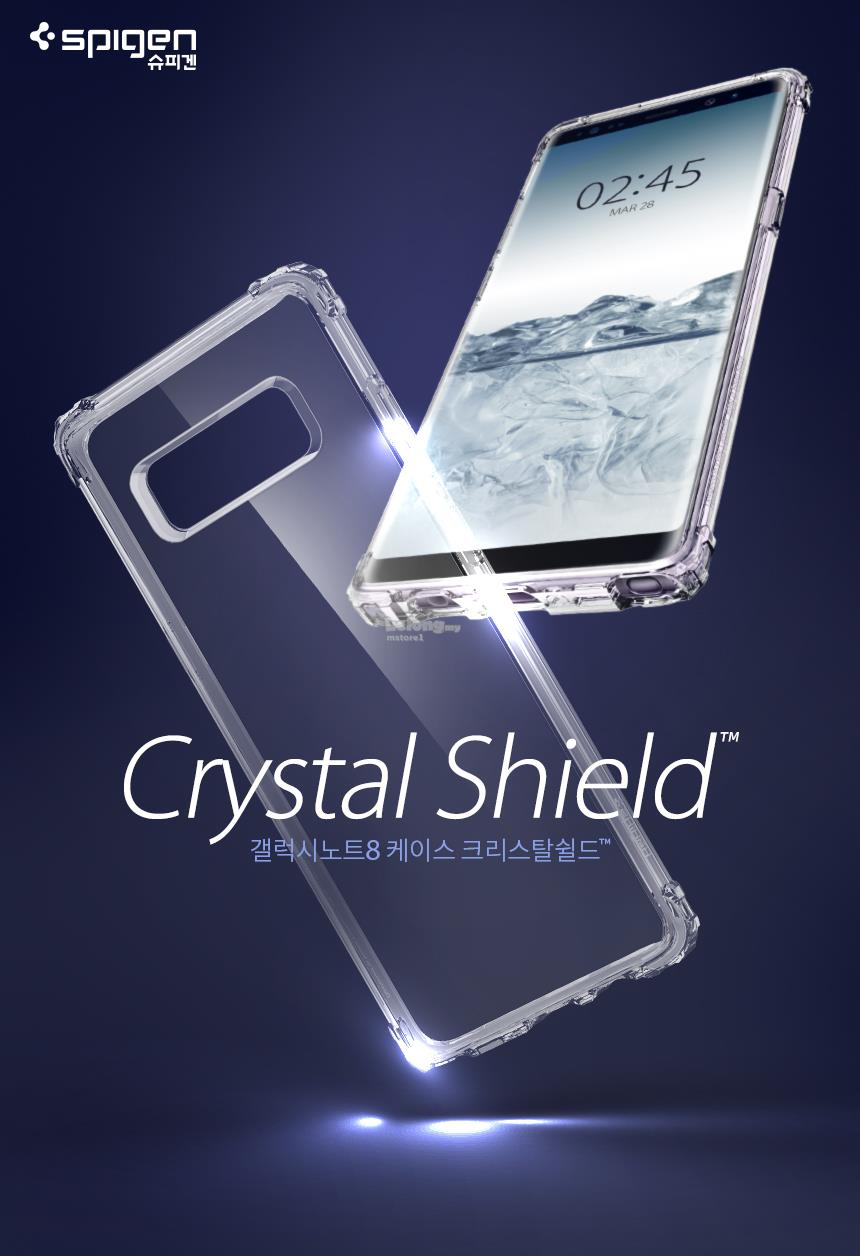 100 Genuine Spigen Crystal Shell Cl End 1 18 2020 117 Pm Hybrid Case For Galaxy Note 8 Clear Samsung