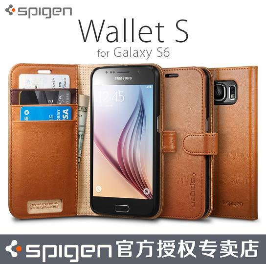 100% Genuine Spigen SGP Samsung Galaxy S6 Wallet S Case Cover Casing