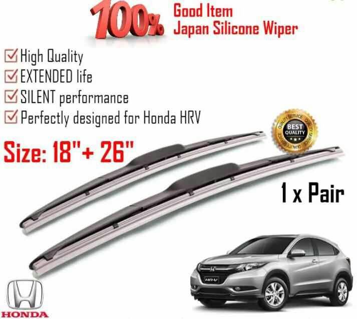 What Size Windshield Wipers >> 100 Japan Silicone Car Wiper Size 26 18 1 Pair For Honda Hr V