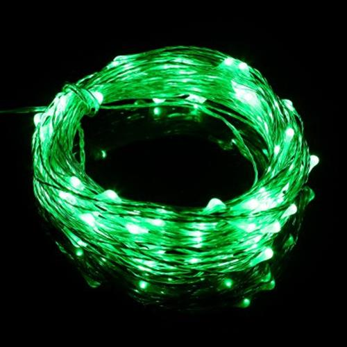 100 LEDS COPPER WIRE STRING FAIRY LIGHT WATERPROOF LED DECORATION LAMP (GREEN)
