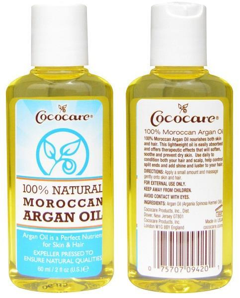 100% Natural Argan Oil, Skin & Hair Moisturizer, Made in USA (60ml)