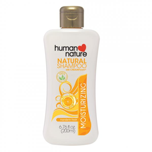 100% Natural Moisturizing Shampoo 200ml (Mandarin Fresh)- human nature
