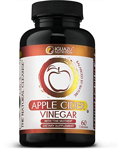 100% Organic Apple Cider Vinegar Capsules with The Mother - Natural Cleanser S