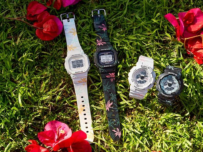 100% Original CASIO BABY-G BA-110CF-1A original floral patterns