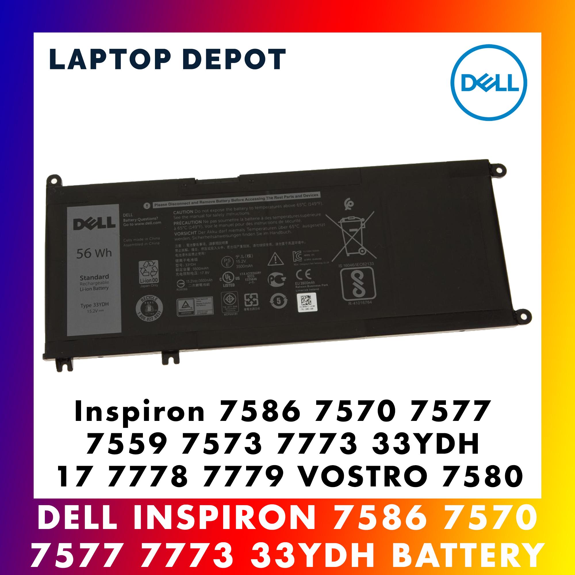 [100% Original] Dell Inspiron 17 7778 7779 7586 7570 7577 7559 Battery