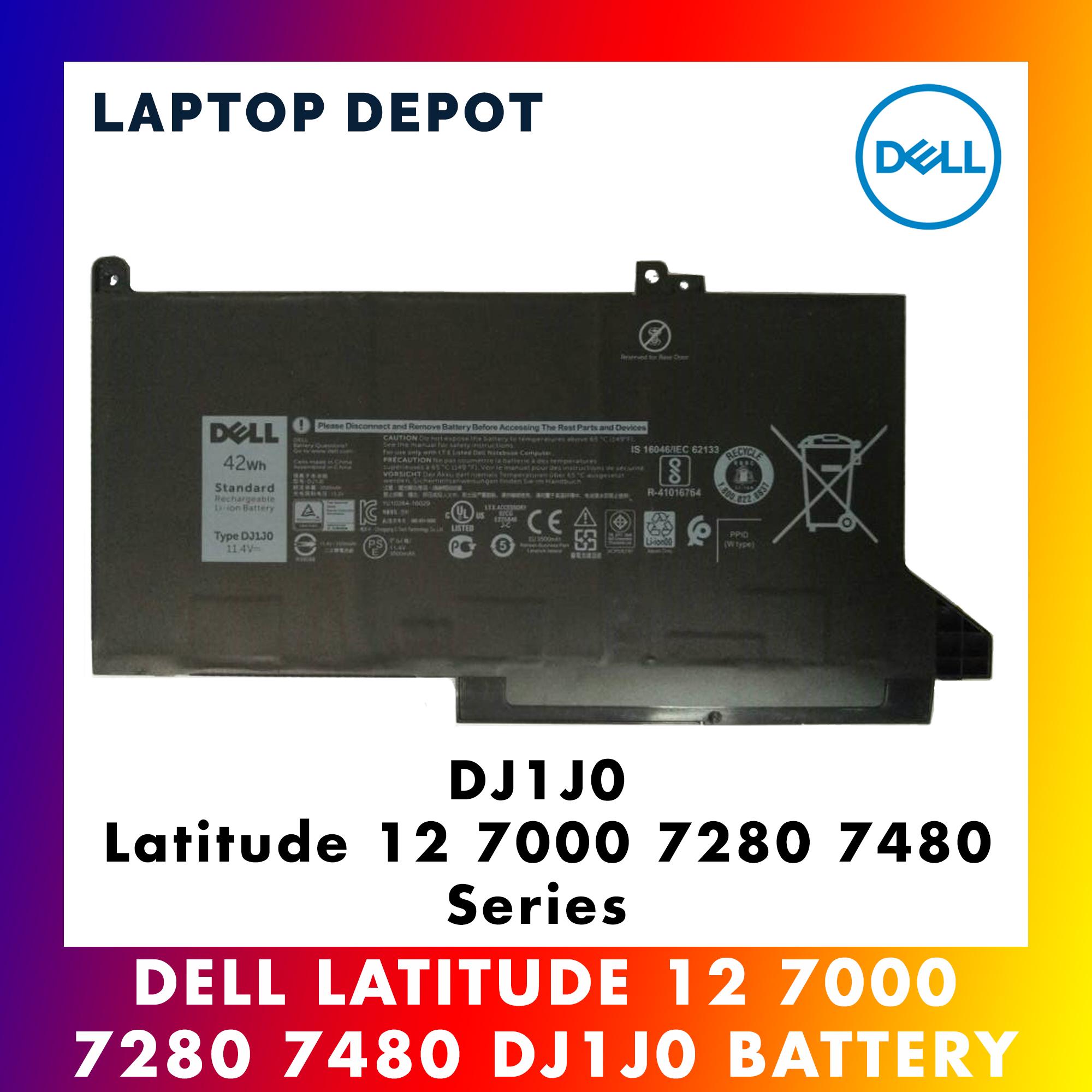 [100% ORIGINAL] Dell Latitude 12 7000 7280 7480 Series DJ1J0 Battery