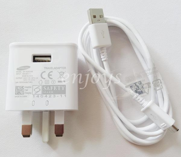100% ORIGINAL EP-TA20UWE Fast Charger Cable Samsung Note 4 5 S7 Edge