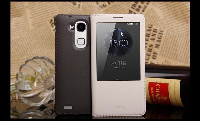 save off 9a3bc 3db3a 100% Original Huawei Ascend Mate 7 Mate7 Flip Case Cover Casing