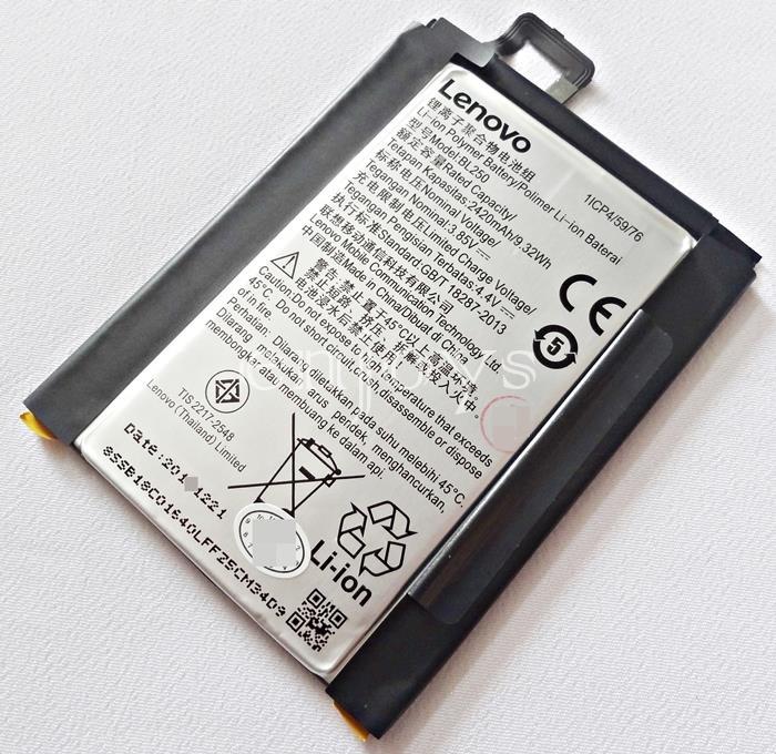 100% ORIGINAL Internal Battery BL250 for Lenovo Vibe S1 ~2420mAh