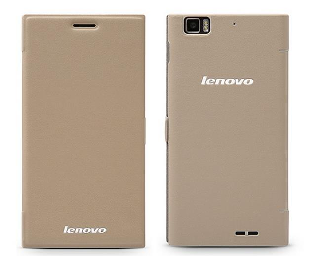 100% Original Lenovo K900 PU Leather Case Cover Free Screen Protector