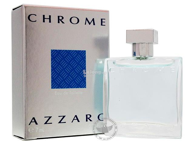*100% Original Miniature**Azzaro Chrome 7ml Edt