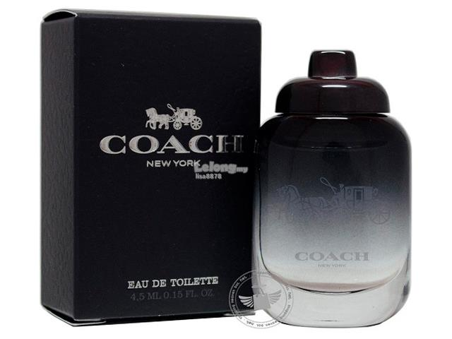 *100% Original Perfume Miniature*C0ACH New York For Men 4.5ml EDT