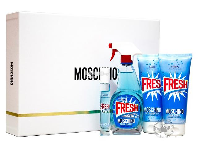 *100% Original Perfume Set*Moschino Fresh Couture Full Size 4-Piece Gi