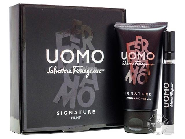 *100% Original Perfume Set*S.Ferragamo Uomo Signature 2-Piece Trave