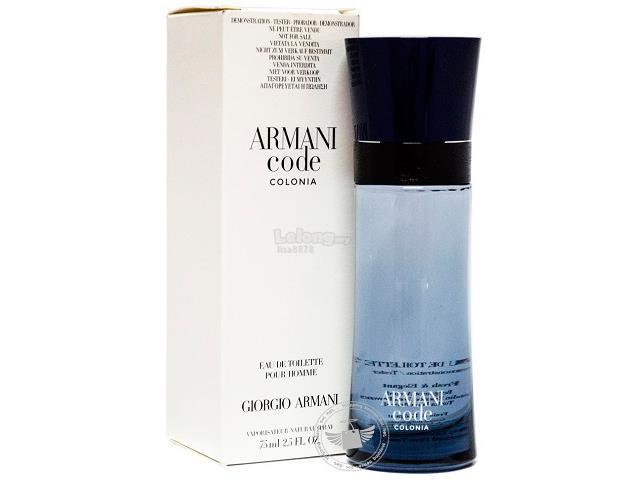 fae8a4530 *100% Original Perfume Tester Unit*Armani Code Colonia Pour Homme 75ml. ‹ ›