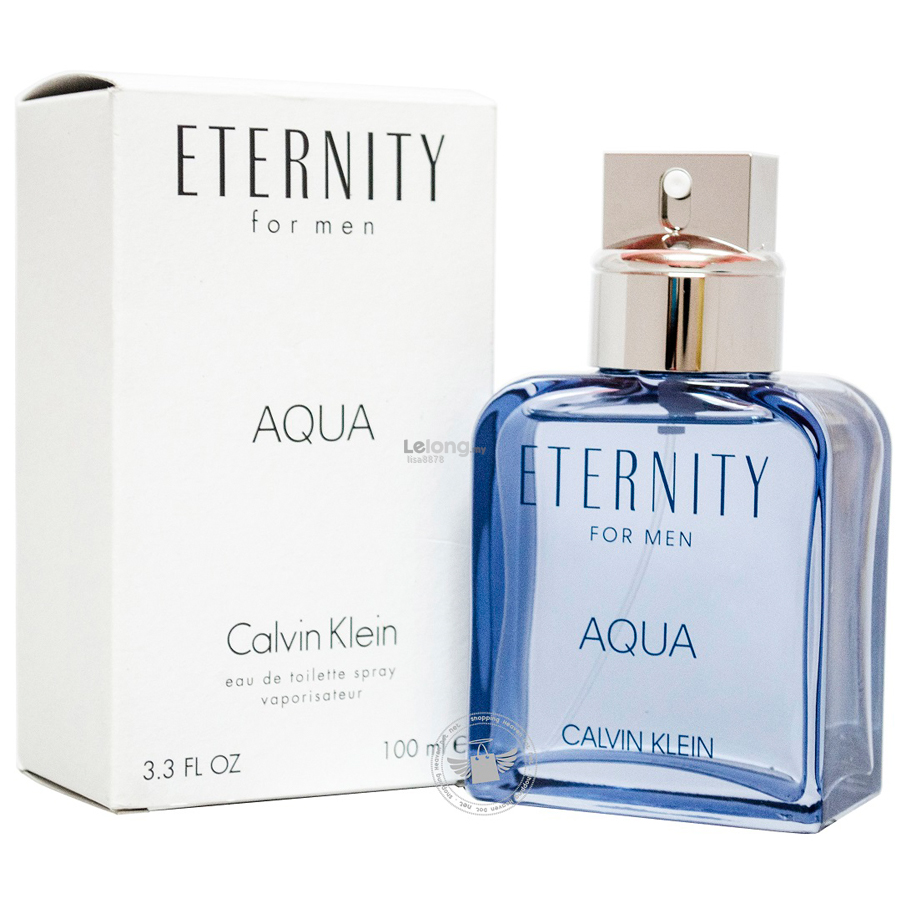 *100% Original Perfume Tester Unit*CK Eternity Aqua Men 100ml Edt Spra