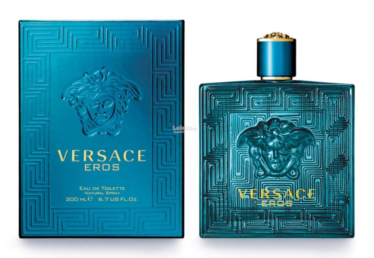 *100% Original Perfume*Versace Eros Pour Homme 200ml Edt Spray