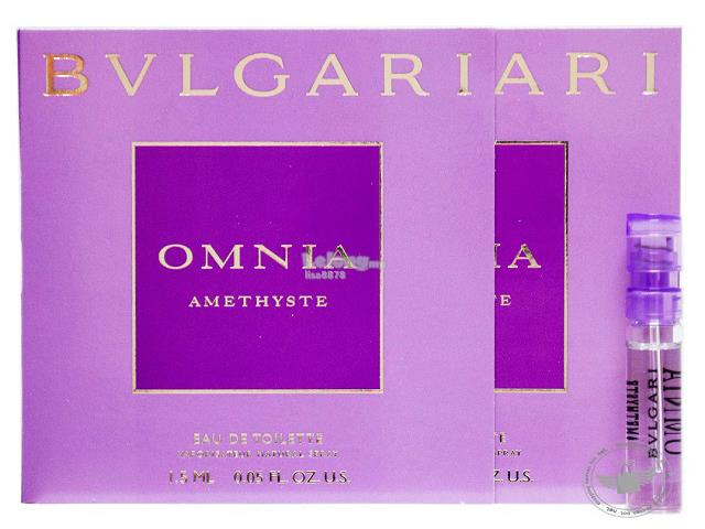 *100% Original Perfume Vials*BV Omnia Amethyste 1.5ml Edt Spray x2