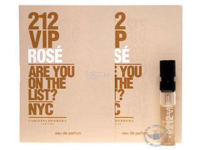 *100% Original Perfume Vials*CH 212 VIP Rose 1.5ml EDP x2