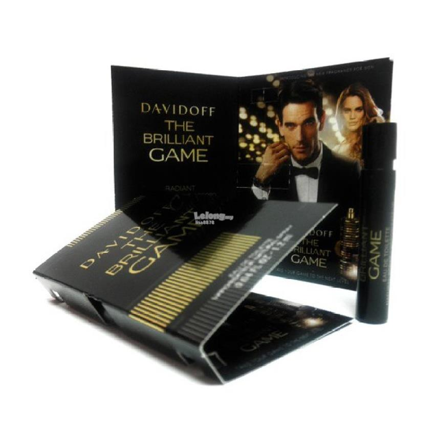 *100% Original Perfume Vials* Davidoff The Brilliant Game 1.2ml Edt x2