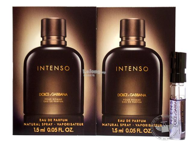 *100% Original Perfume Vials*DNG Pour Homme Intenso 1.5ml EDP Spray x2