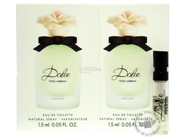 *100% Original Perfume Vials*DOLCE Floral Drops 1.5ml Edt Spray x2