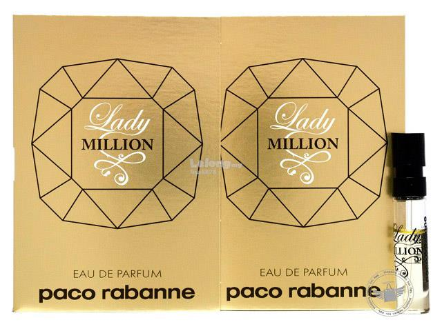 *100% Original Perfume Vials*P.Rabanne Lady Million 1.5ml Edp Spray x2