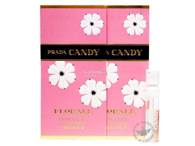 *100% Original Perfume Vials*Prada Candy Florale 1.5ml Edt Spray x2