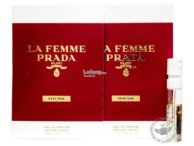 100% Original Perfume Vials Prada La Femme Intense 1.5ml EDP x2. ‹ › 4a34d46c87eb