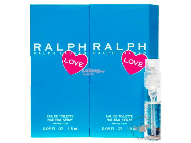 *100% Original Perfume Vials*Ralph Love 1.5ml Edt Spray x2