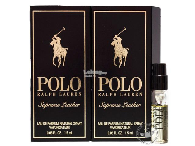 *100% Original Perfume Vials* RL Polo Supreme Leather 1.5ml EDP x2