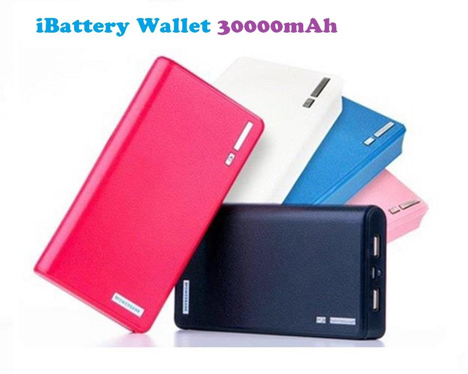 100% ORIGINAL PINENG iBattery Super Slim Power Bank Aluminium 30000mAh