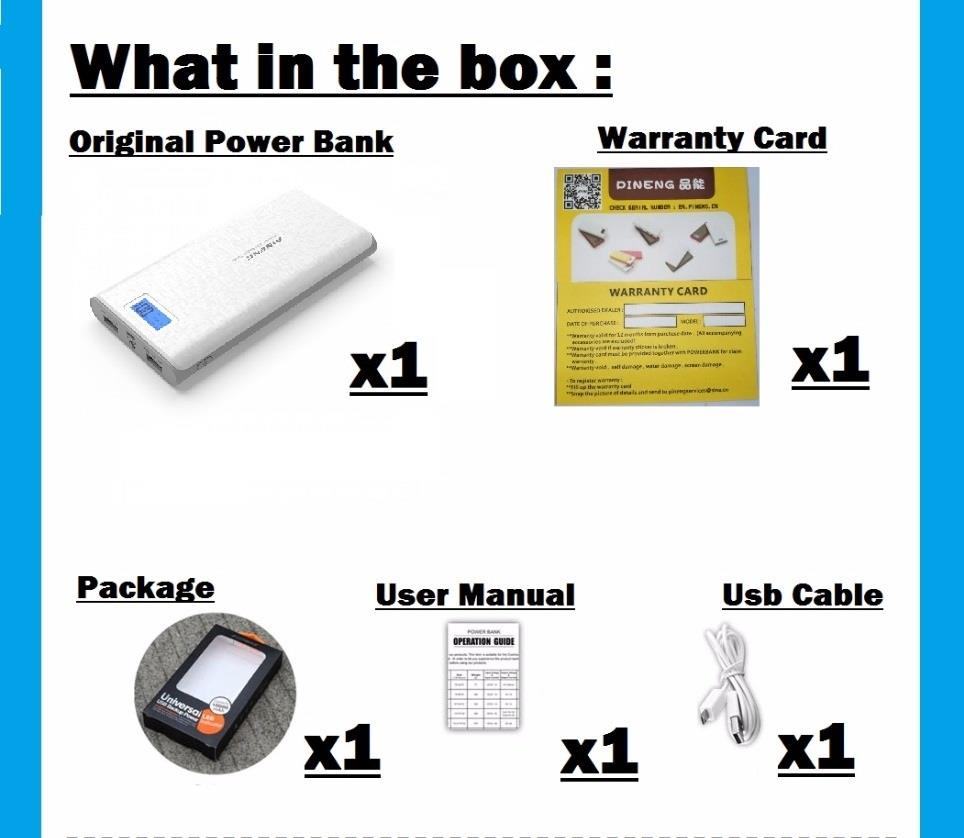 100% Original PowerBank Pineng Pn953 Pn-953 10000mah Power Bank PN 953