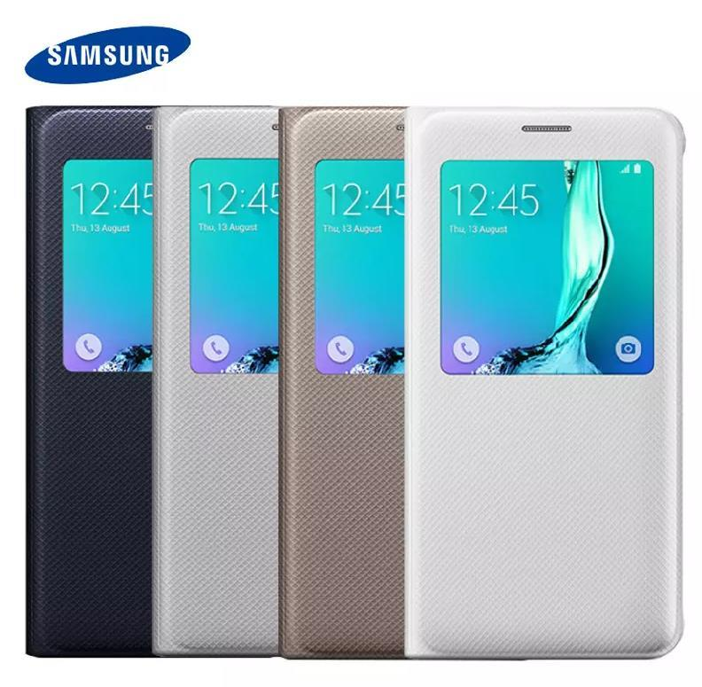 finest selection 279dd 55930 100% Original Samsung Galaxy S6 Edge Plus Sview Flip Cover Case Casing