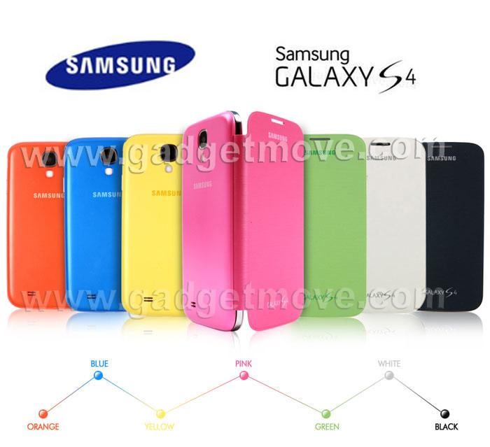 san francisco 48f4d b90d0 100% Original SME Samsung Galaxy S4 i9500 Flip Cover Leather Case
