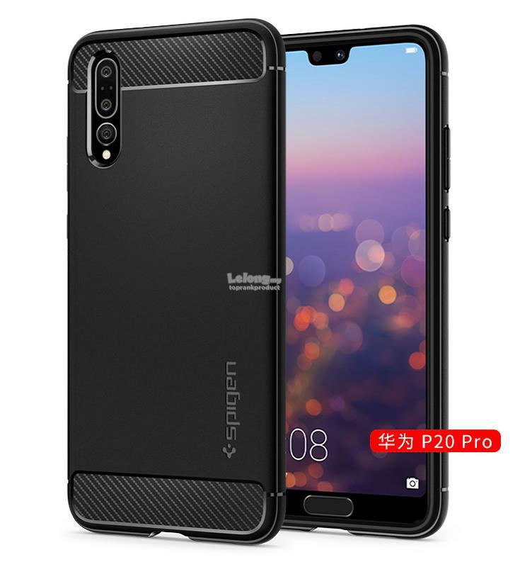 100% Original Spigen Huawei P20 / Pro Rugged Armor Case Cover Casing