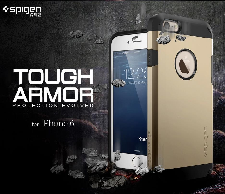 100% Original Spigen SGP Apple iPhone 6 4.7 Tough Armor Case Cover