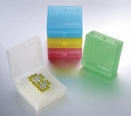 100 Well PP Storage Boxes with Hinged Lid, Assorted Colours