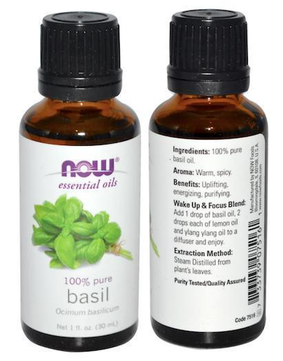 100% Pure Basil Essential Oil, Ocimum Basilicum, Made in USA (30ml)