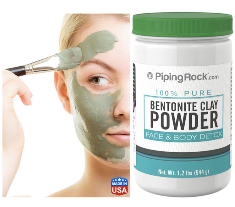 100% Pure Bentonite Clay Powder (544 g) Face & Body Detox (USA)