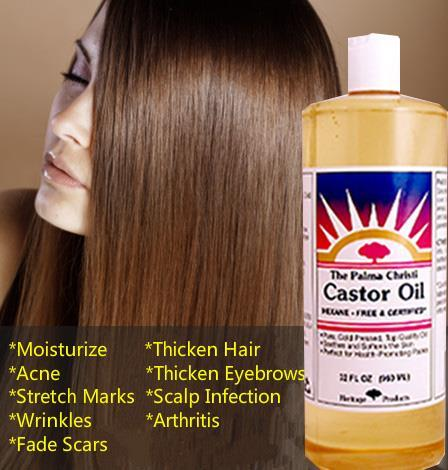 100% Pure Castor Oil, Hexane-Free, Cold-Pressed (960 ml)