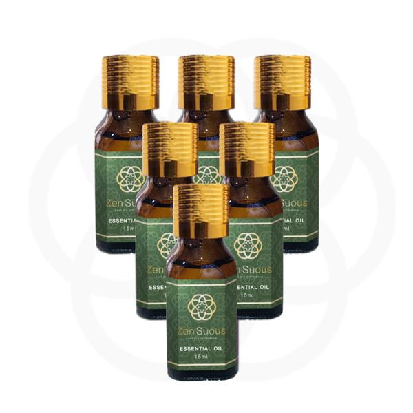 100% Pure Essential Oil set of 6 bottles 15ml