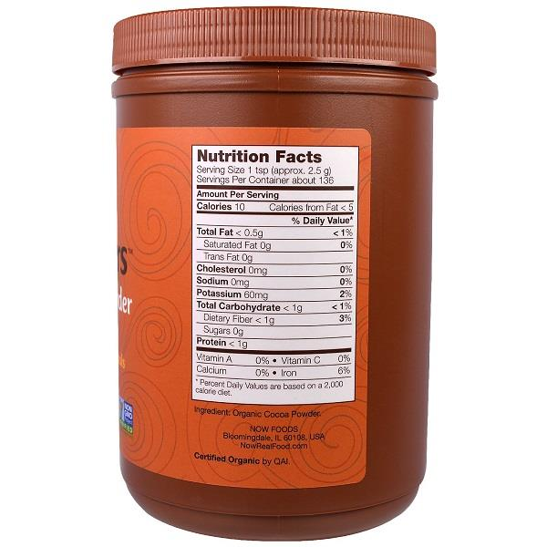 100% Pure & Organic Cocoa Powder, Vegetarian (340 g)