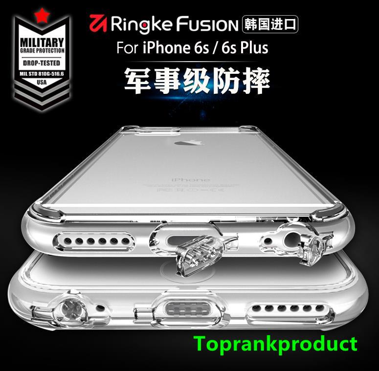 100% Rearth Ringke Apple iPhone 6 6s / Plus Fusion Case Cover Casing