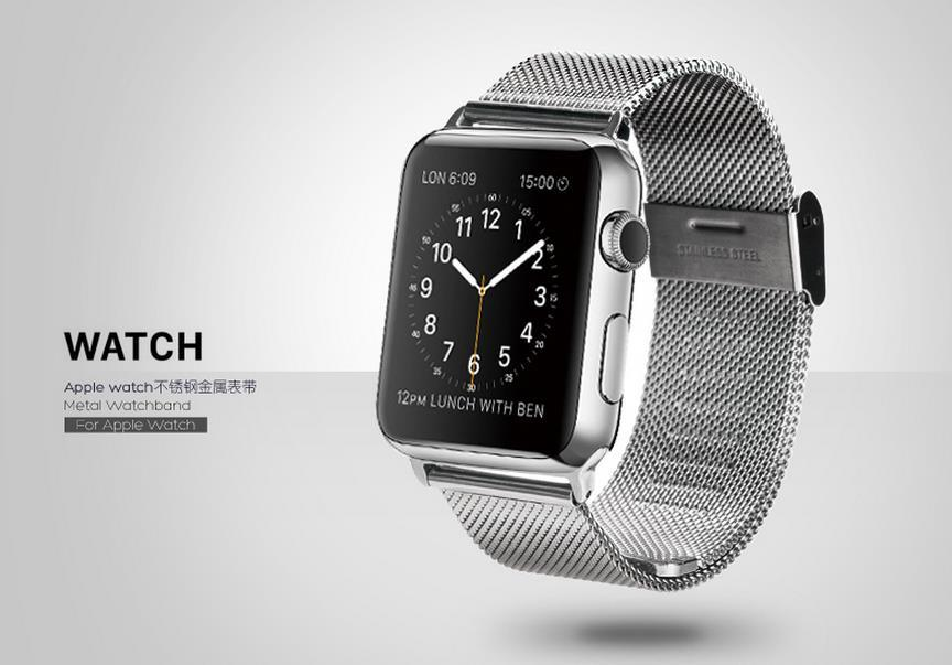100% Rock Apple Watch 42mm 38mm Metal Buckle Watchband Band Strap