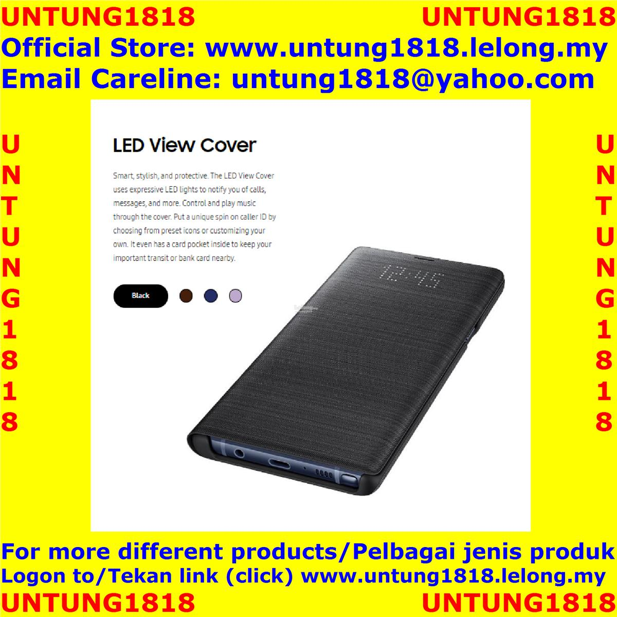 100% Samsung.Samsung Galaxy Note9 Note 9 LED View Cover