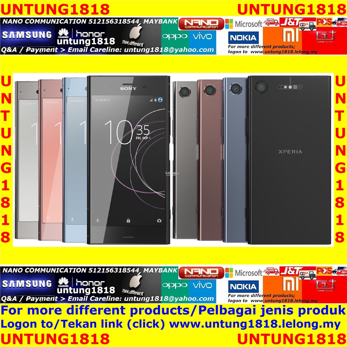 100% Sony..Original Imported.Sony Xperia XZ1