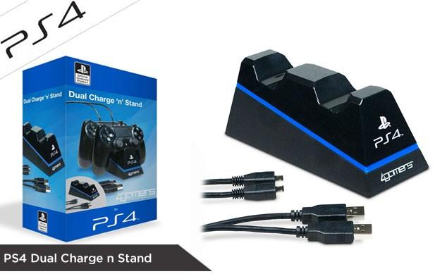 100% SONY PS4 Dual Charge n Stand Playstation