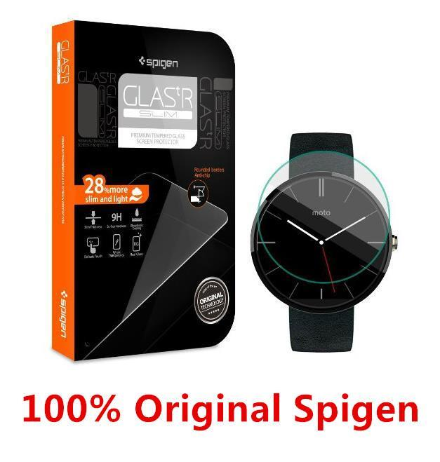 100% Spigen SGP Motorola Moto 360 Tempered Glass SP